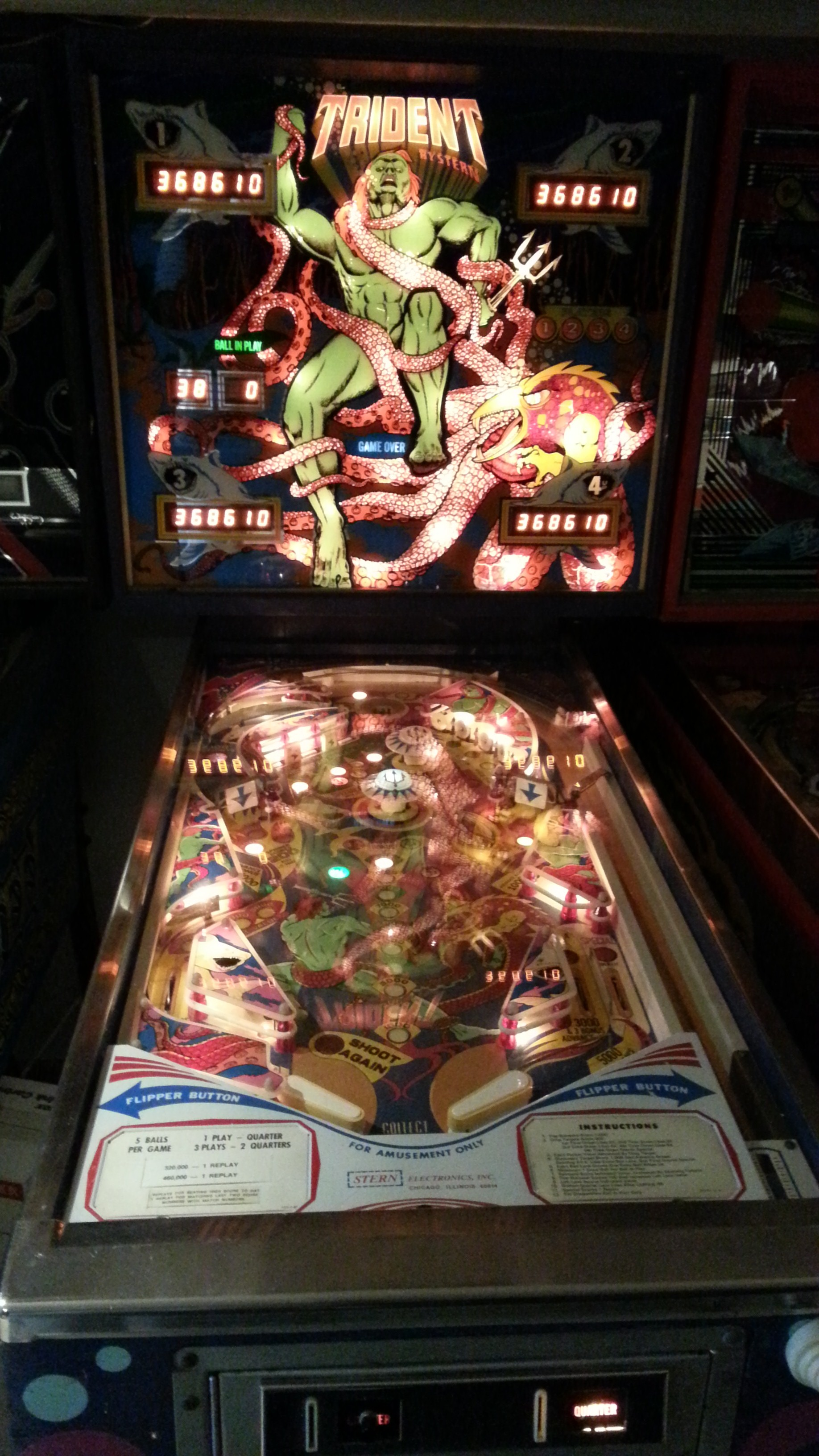 Pinball Collection – 1979 Stern Trident « Vintage Volts