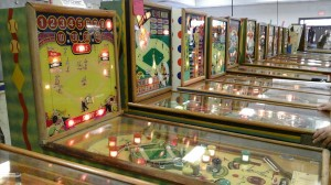 Wood rail pinball machines